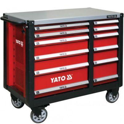 Tủ đựng đồ nghề cao cấp 12 ngăn, kết hợp bàn làm việc YATO Model: YT-09003