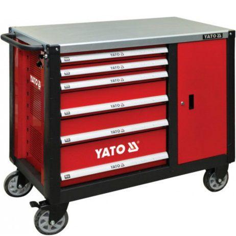 Tủ đựng đồ nghề cao cấp 6 ngăn kết hợp bàn làm việc YATO Model: YT-09002